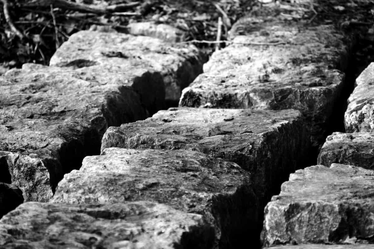 stone, structure, nature, monochrome, cube, outdoor