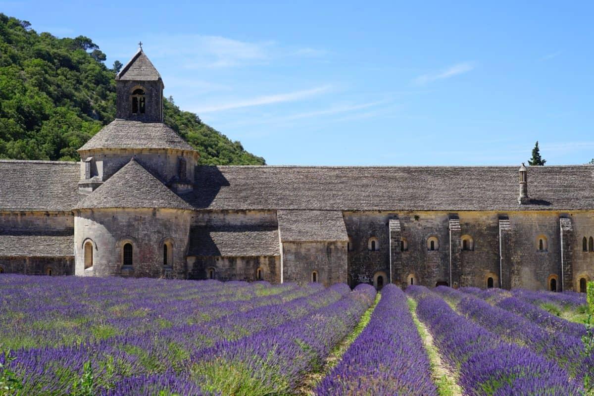 architecture, landscape, religion, exterior, garden, lavender