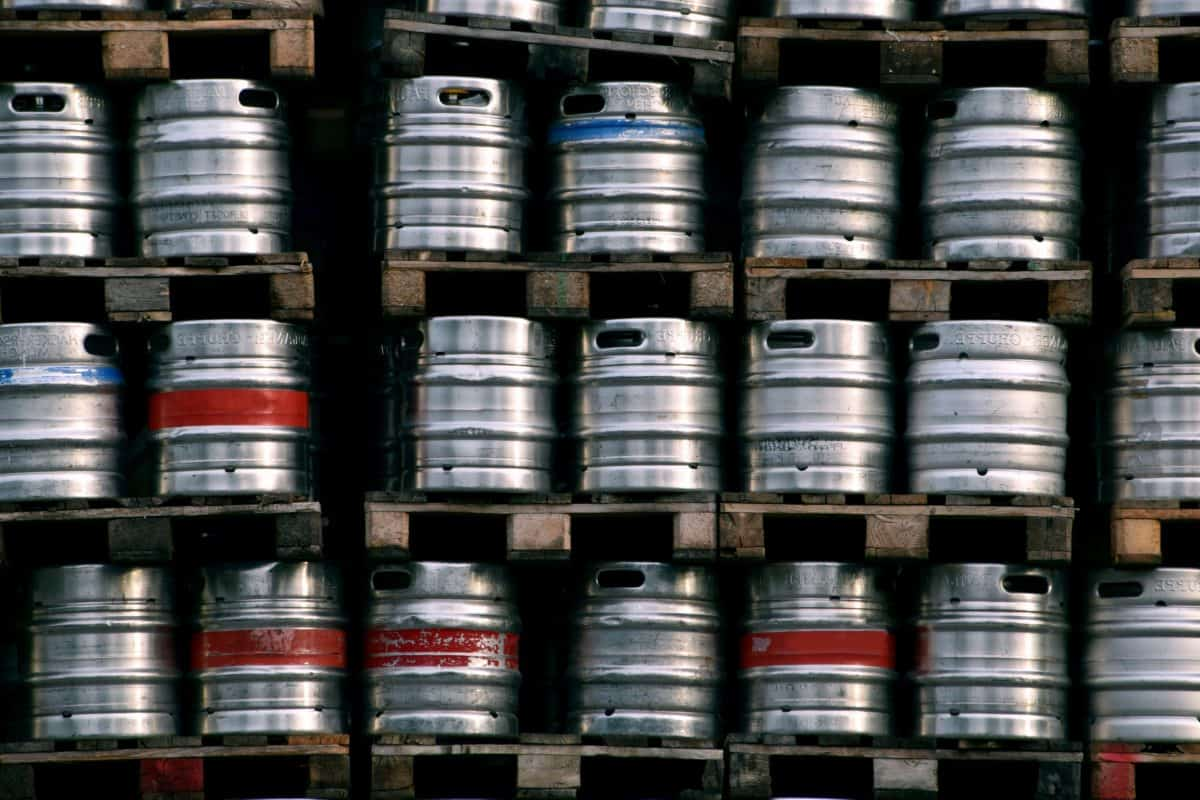 industry, barrel, aluminum, metal, object, storage, keg