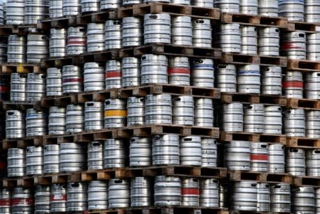 barrel, drink, factory, warehouse, aluminum, industry, object, outdoor