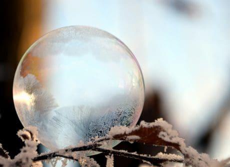 nature, soleil, glace, réflexion, hiver, neige, sphère