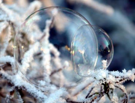nature, hiver, neige, sphère, glace, réflexion