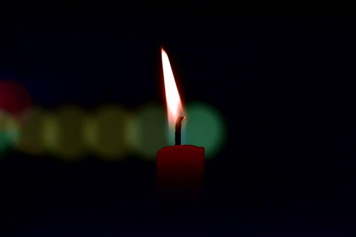 Feuer, Stock, Kerzen, Wachs, dunkel