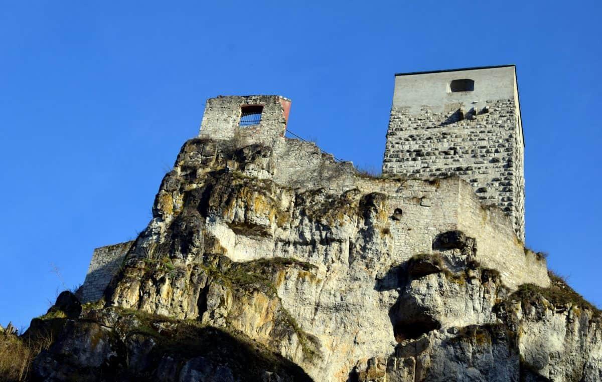 Древна, архитектура, средновековни, стар, укрепление, крепост, структура