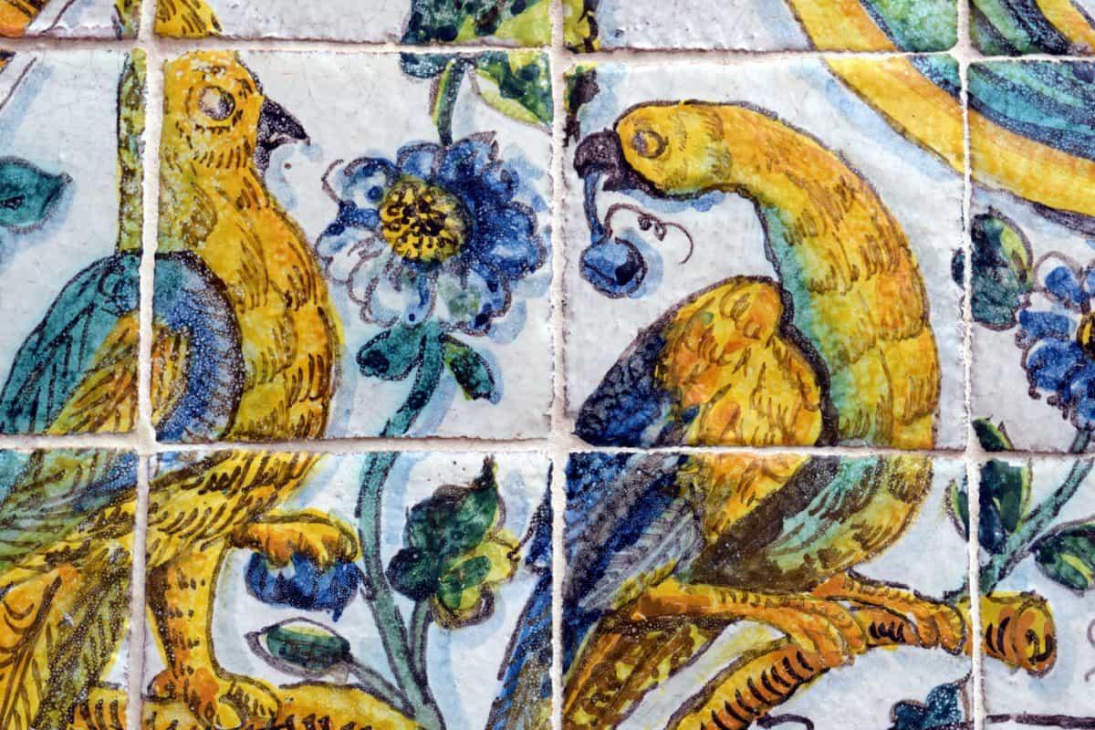 Mosaico, colorato, arte, muro, antico, reticolo, vecchia, antica