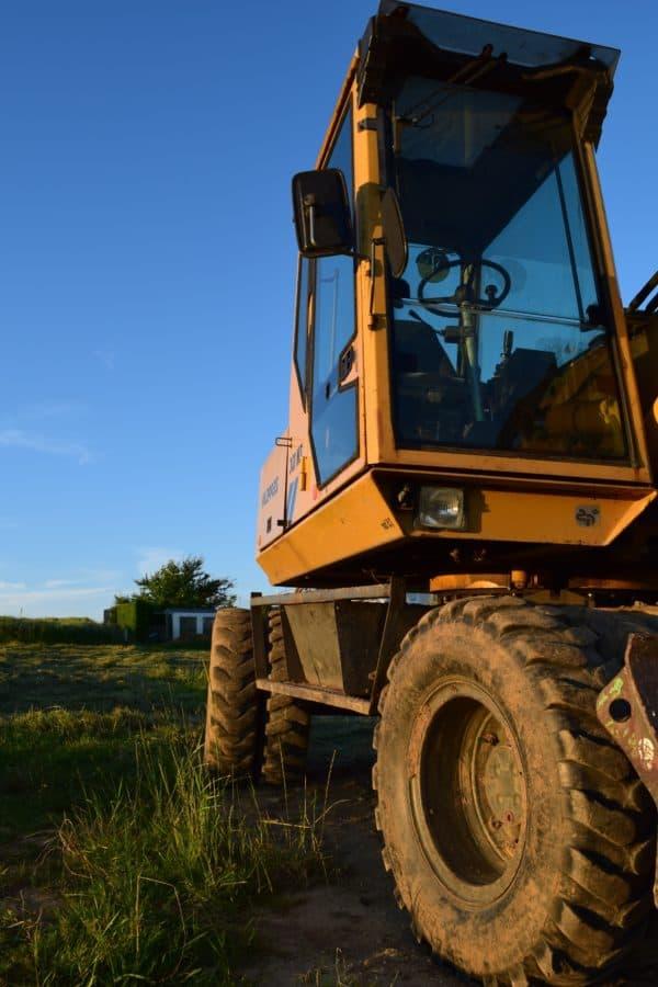 máquina, vehículo, industria, tractor, excavadora, maquinaria