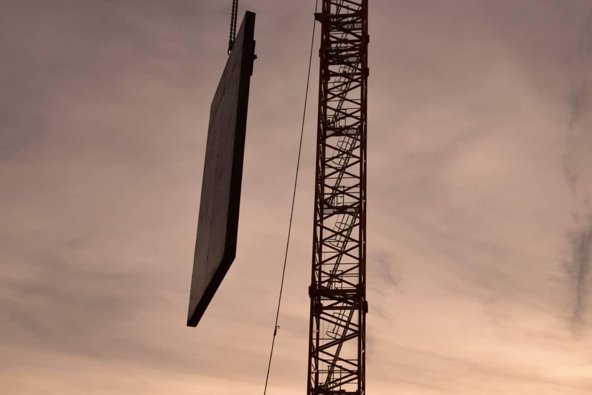 priemysel, neba, žeriav, veža, ocele, vysoko, stavebné, štruktúra