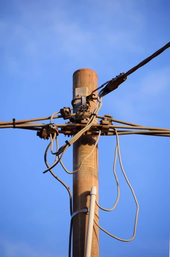sky, wire, equipment, electricity, cable, electric, voltage