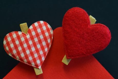 heart, decoration, red, love, fabric, macro, detail, decoration