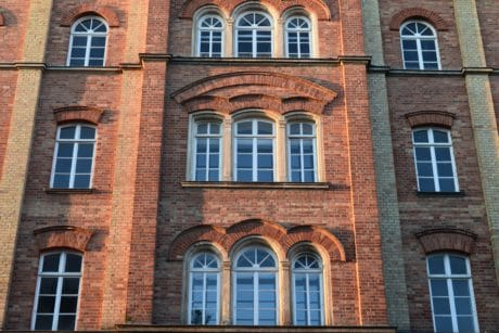 architecture, house, city, brick, old, facade, window, structure