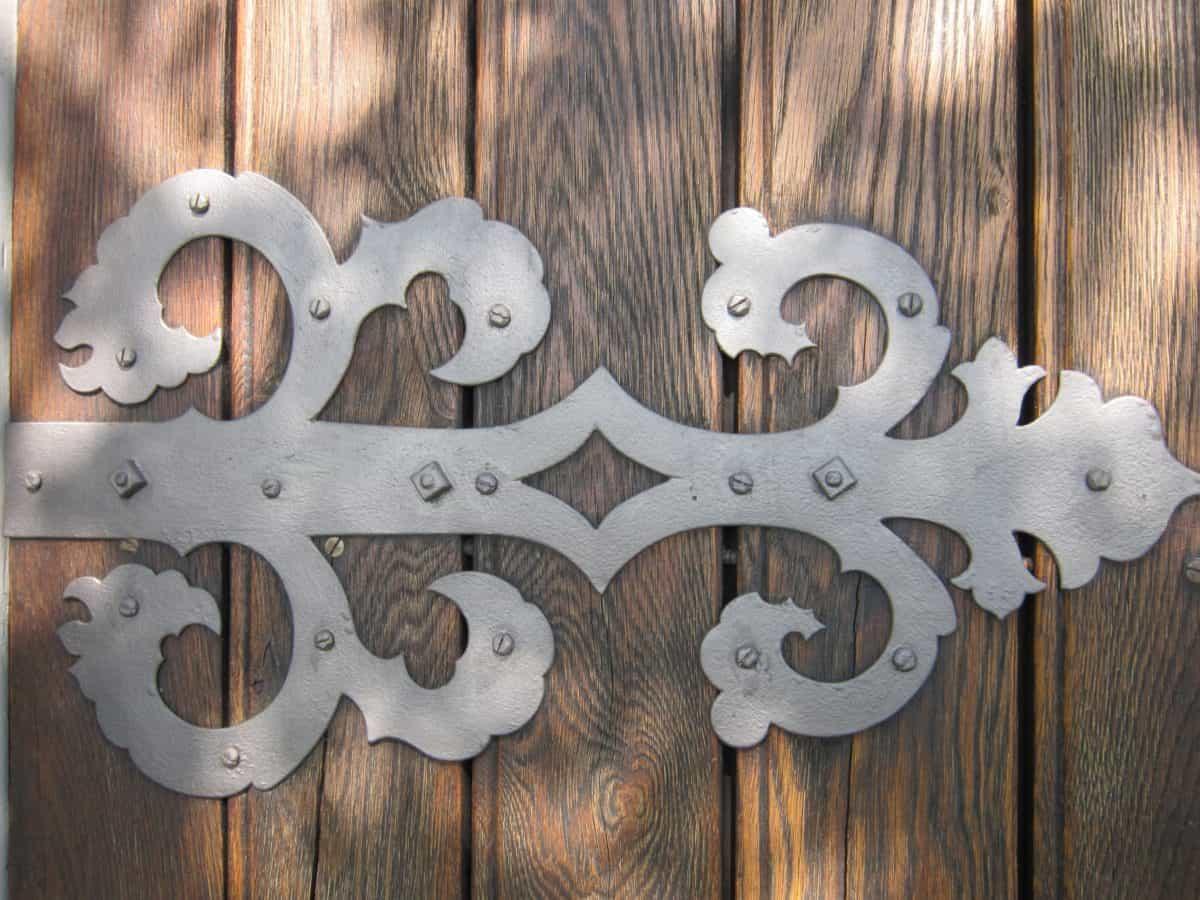 wood, old, wooden, door, metal, antique, iron, detail macro, brown