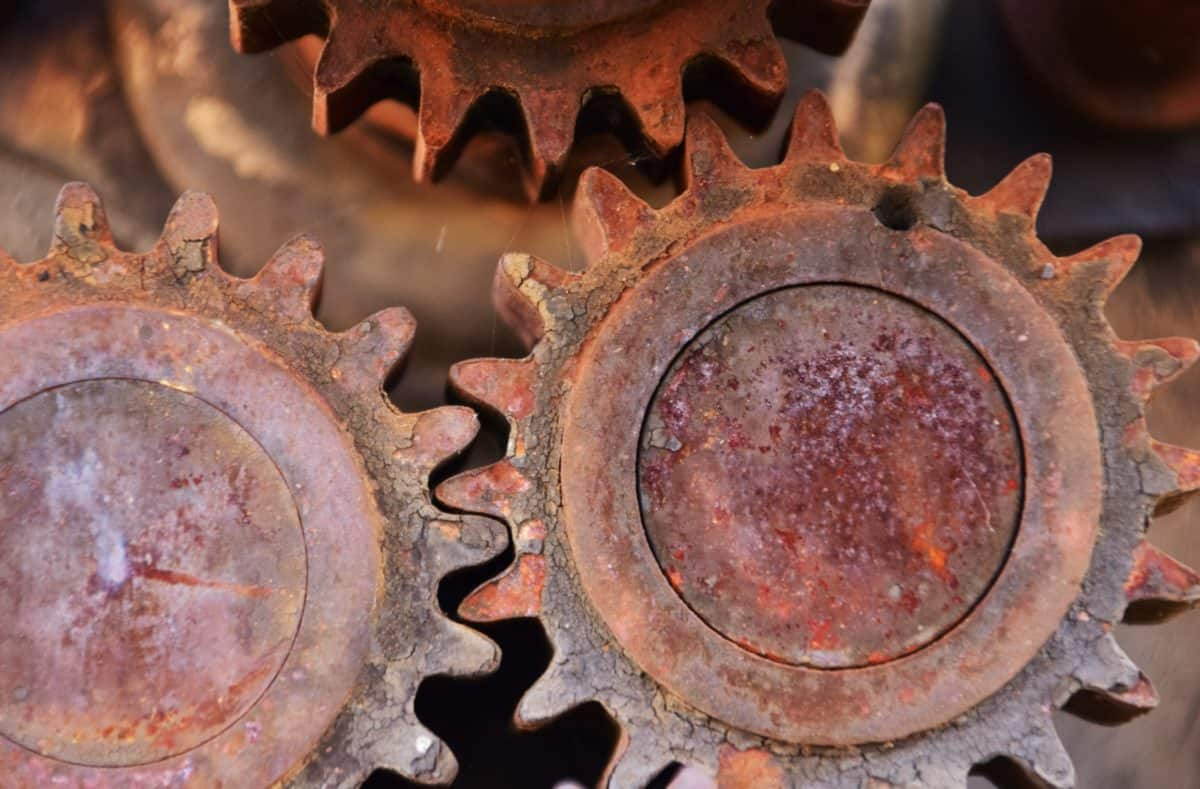 mechanism, technology, rust, industry, metal, steel, corrosion
