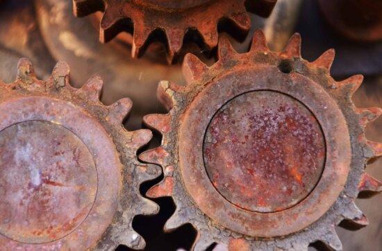 Mechanismus, Technologie, Rost, Industrie, Metall, Stahl, Korrosion
