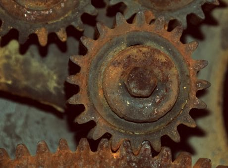 engine, mechanism, rusty, old, technology