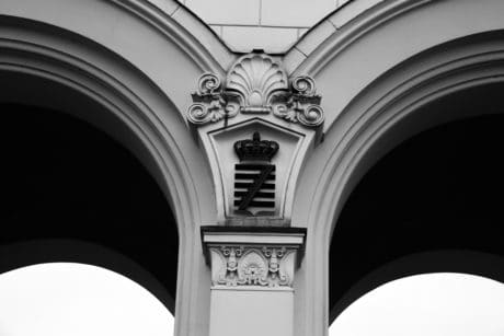 arch, monochrome, facade, exterior, architecture, art, city, design