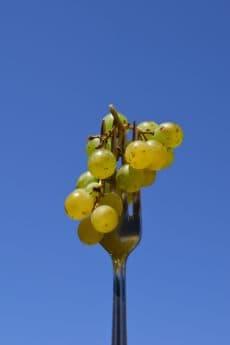 Gabel, Himmel, Obst, Bio, Lebensmittel, Weinberg
