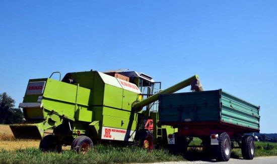 tracteur, agricole, remorque, machine, véhicule, transport
