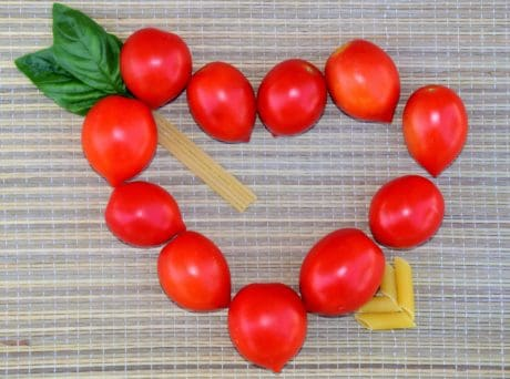 tomato, heart, romance, herb, plant, vegetable, food, indoor