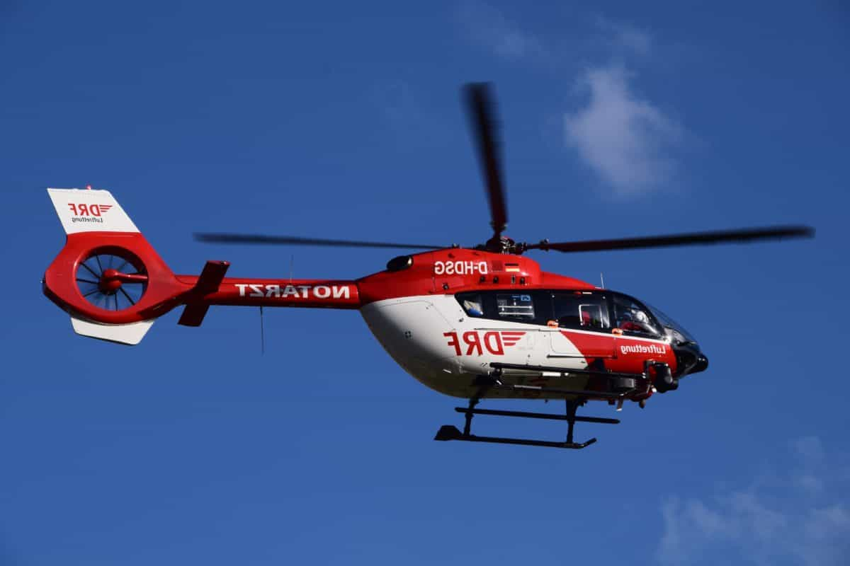 sauvetage, hélicoptère, véhicule, véhicules, aviation