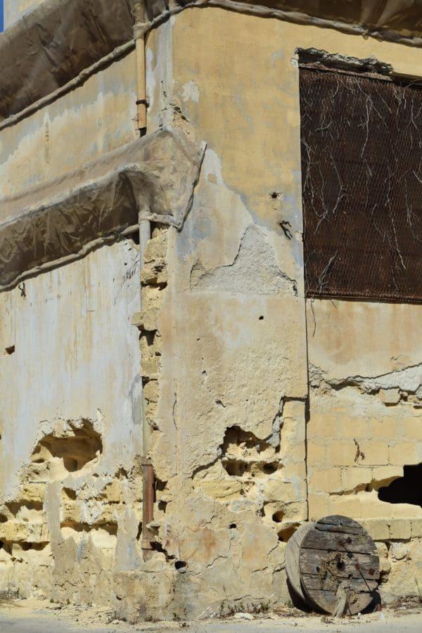 antigua, arquitectura, la textura, el ladrillo de la pared