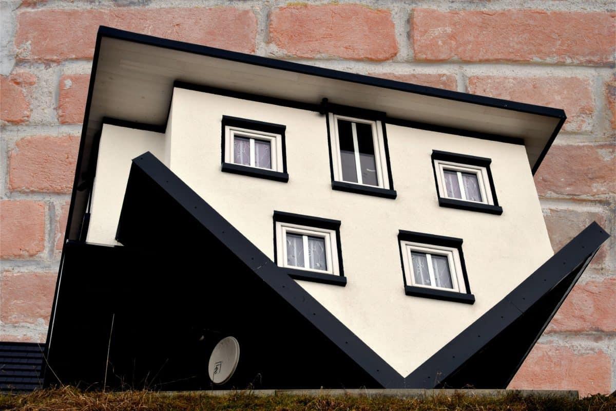 miniature, mur, architecture, angle, fenêtre, maison, cadre, accueil, brique
