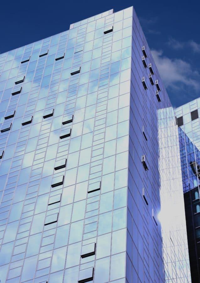 fachada, ciudad, edificio, azul cielo, ventana, centro de la ciudad, arquitectura, moderna