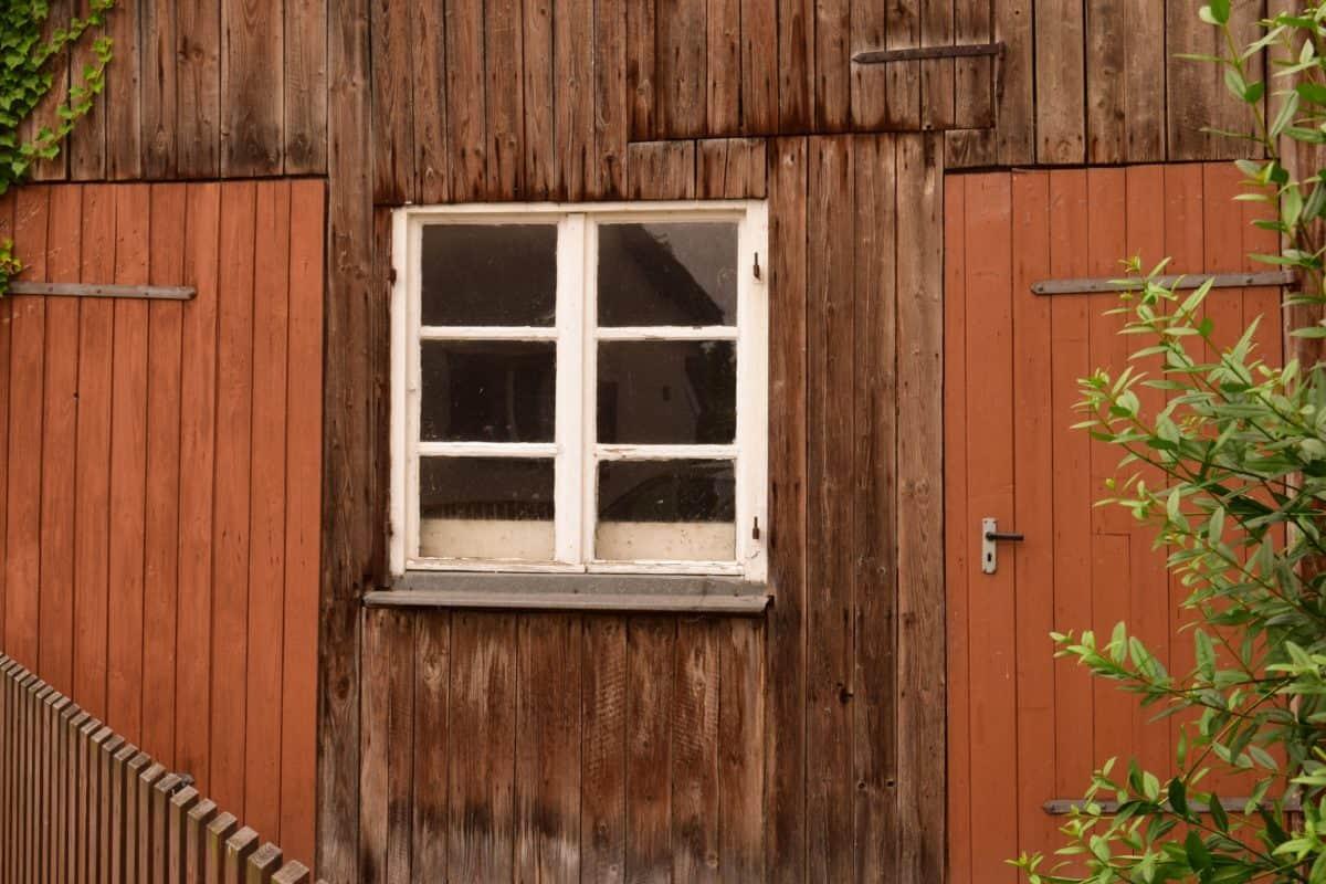 finestra, architettura, casa, legno, porta, rustico, vecchio, legno