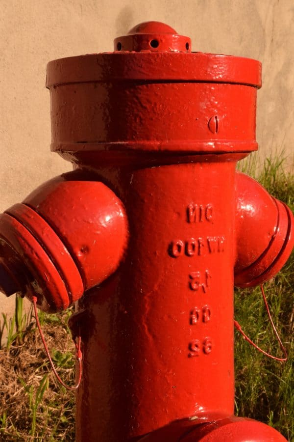 object, metal, iron, red, hydrant, fire, outdoor
