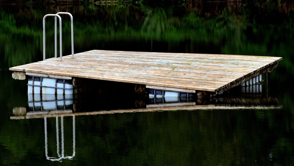 lake, reflection, wood, water, outdoor, object
