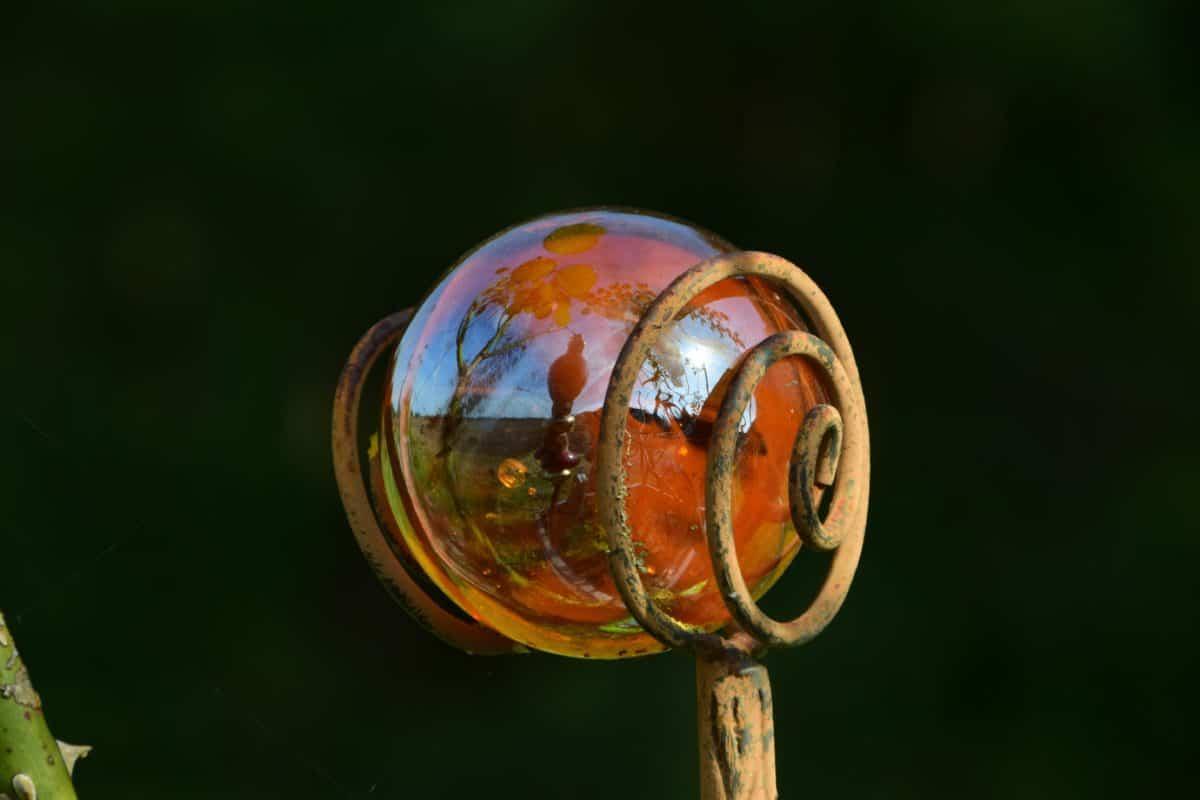 metallo, vetro, riflessione, oggetto, decorazione