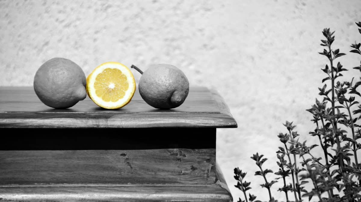 table, citron, fruits, monochrome, nourriture, bois, bio, vitamine
