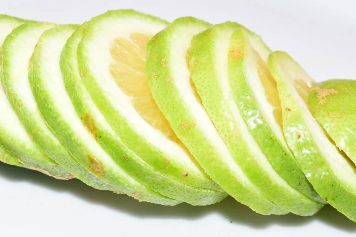 Makro, Zitrone, Slice, Frucht, grün, Bio, Vitamin, Essen