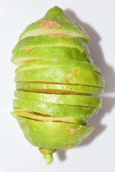 chanh, vỏ, cắt miếng, trái cây, vĩ mô, màu xanh lá cây, hữu cơ, vitamin, thực phẩm