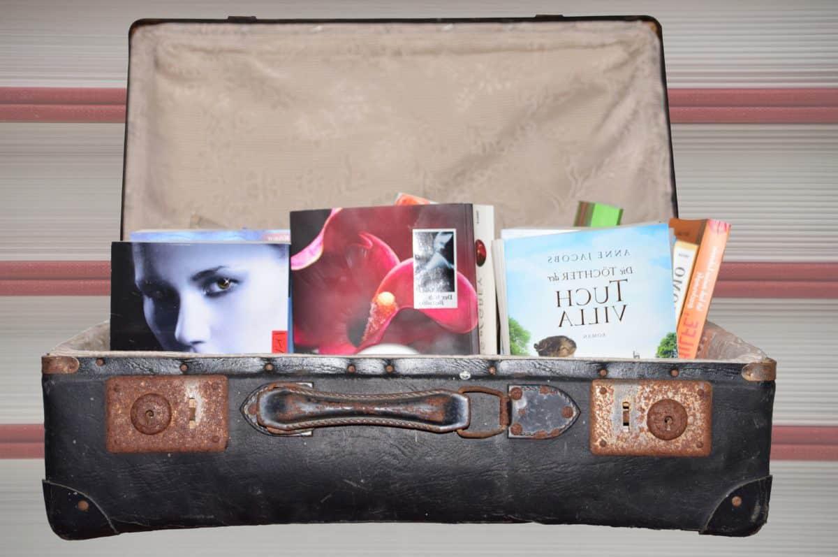 Kasten, Leder, Retro, Buch, Tasche, indoor, Koffer