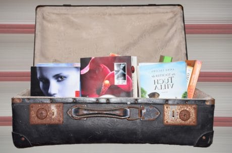 box, leather, retro, book, bag, indoor, suitcase