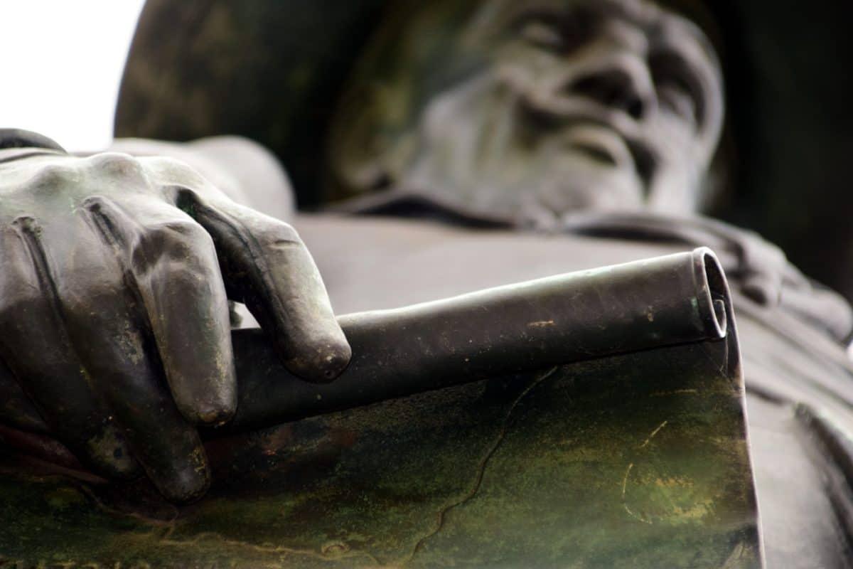 mano, estatua, metal, monocromo, escultura, hombre
