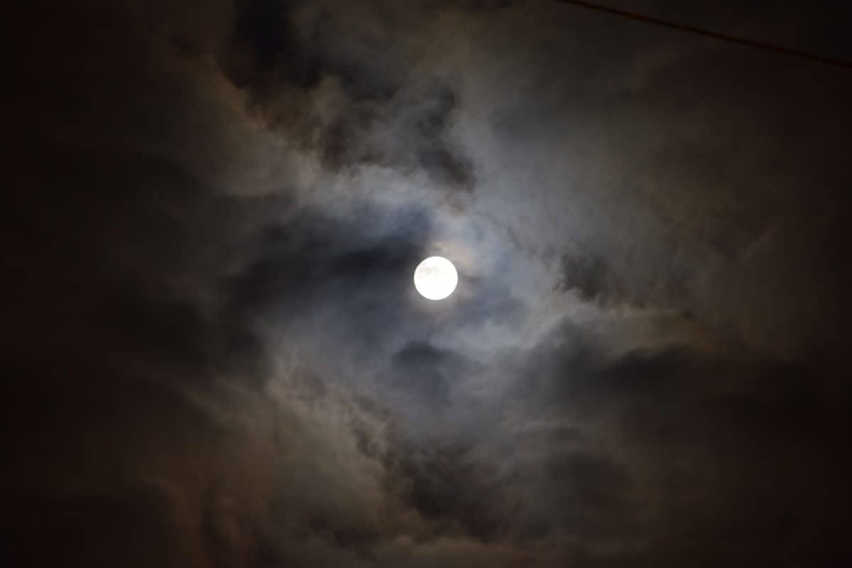 moon, sky, astronomy, night, moonlight, dark