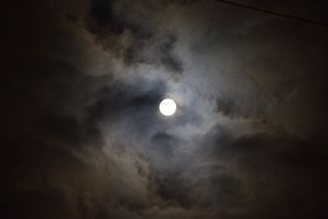 moon, sky, astronomy, night, moonlight, dark