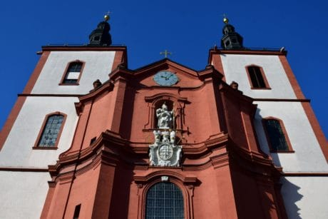 city, sky, architecture, religion, old, church, facade