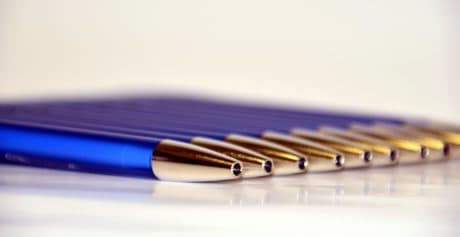 stylo, stylo à bille, écriture, metal, couleur, encre