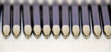 stylo, écriture, metal, couleur, encre, objet, macro, détail