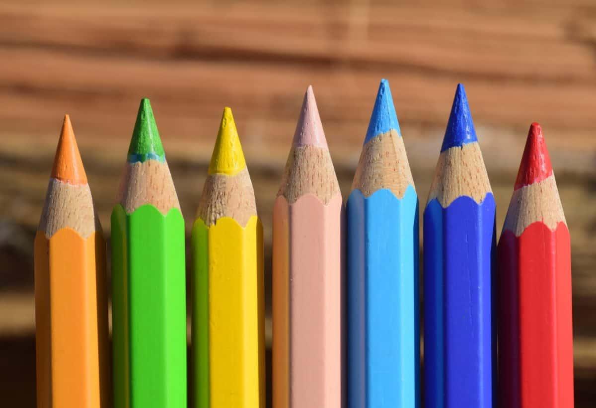 color, colorful, pencil, wood, art, drawing, macro