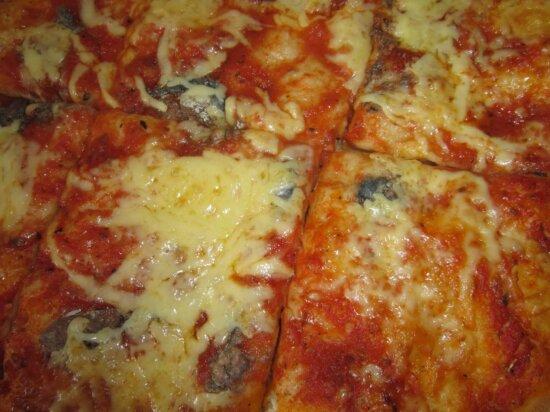 Pizza, kaas, mozzarella, lunch, saus, voedsel, tomaat, diner