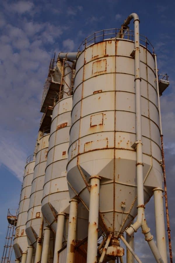 industrie, ciel, pollution, usine, énergie, technologie, stockage, silo