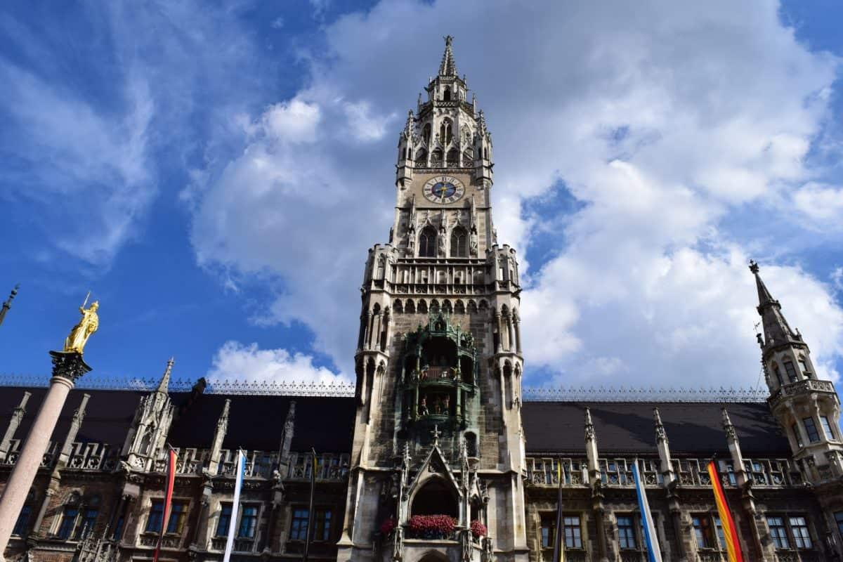 Iglesia, cielo de hito, azul, arquitectura, ciudad, torre de la Catedral, urbano