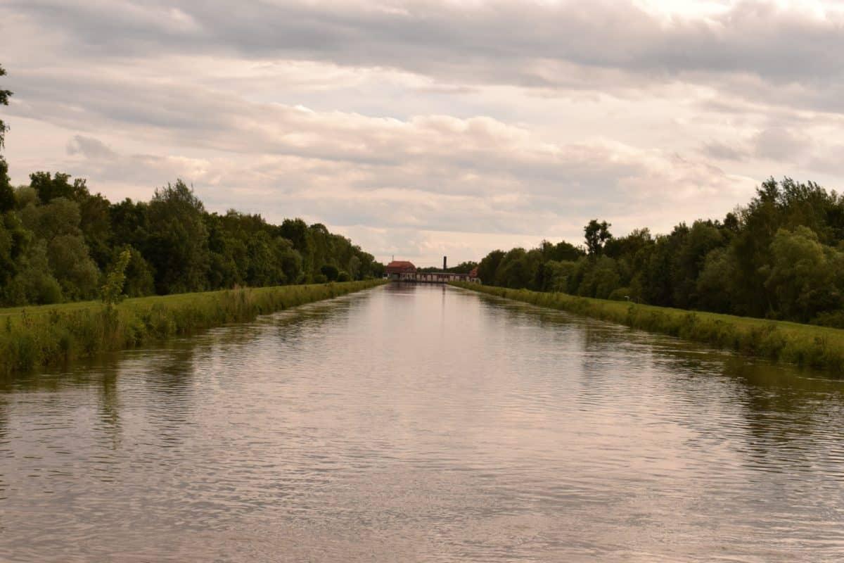 reflexión, río, lago, luz, exterior, árboles, paisaje, agua