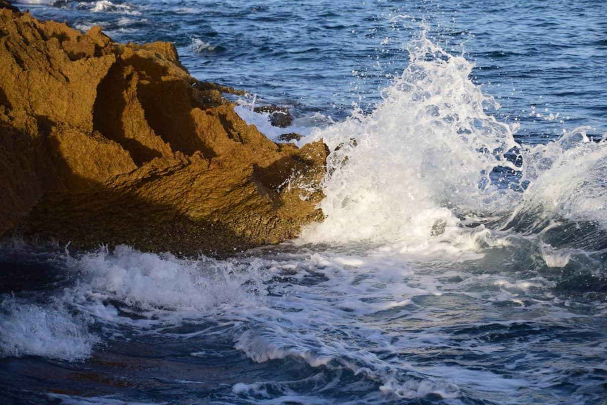 vague, eau, mousse, océan, mer, lumière du jour, extérieur, côte, plage