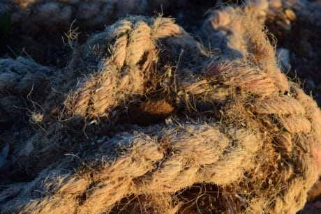 knitted, old, brown, rope, knot, daylight, outdoor, object, old, brown