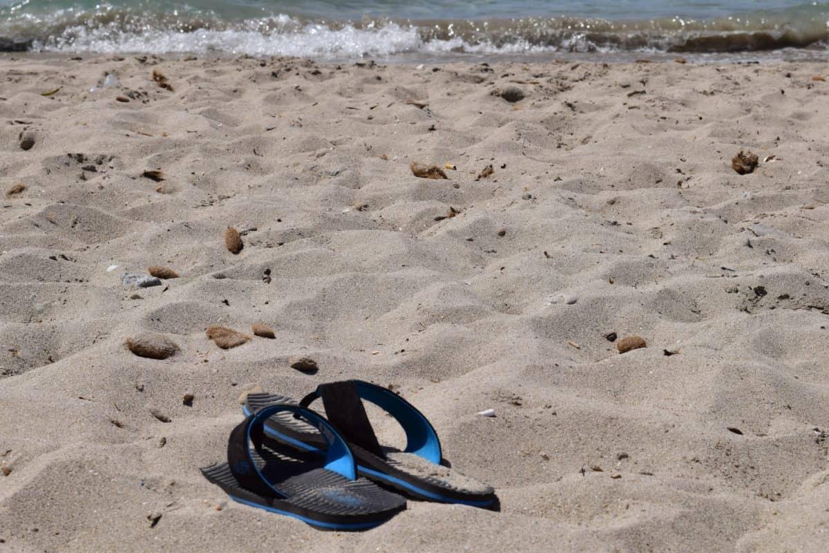песок, море, океан, пляж, лето, воды, берега, берега, сандалии