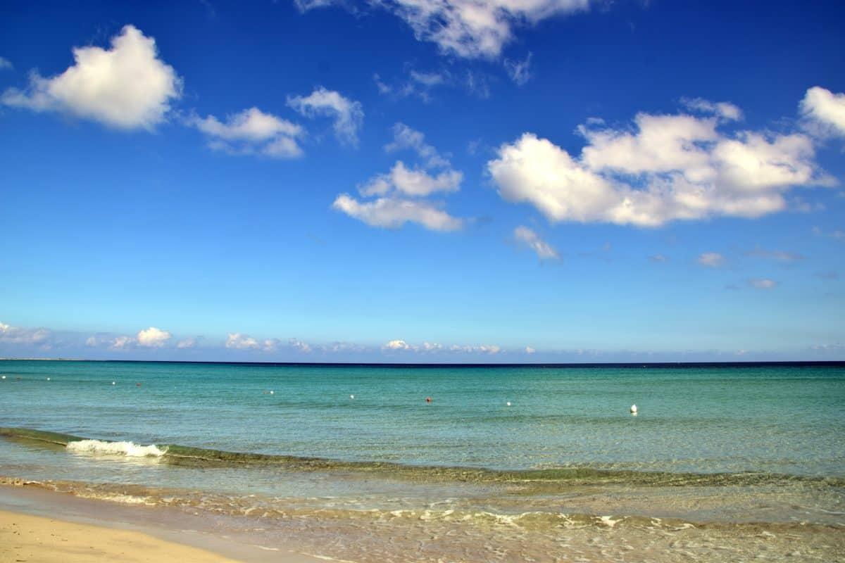 summer, horizon, water, sand, blue skyn, beach, sea, ocean, coast, sky, landscape